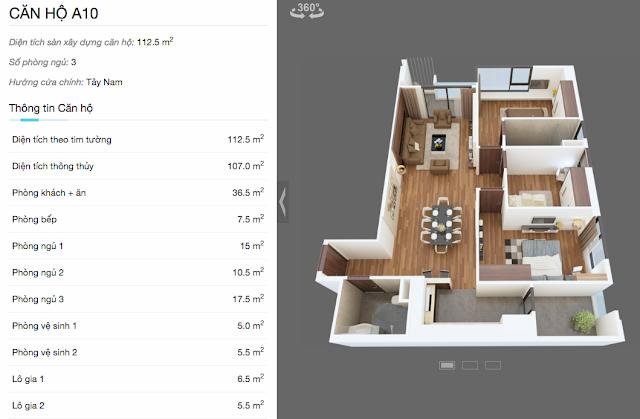 Thiết kế căn A10 chung cư The Legend