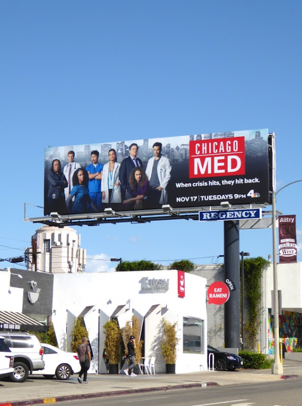 Chicago Med NBC series billboard