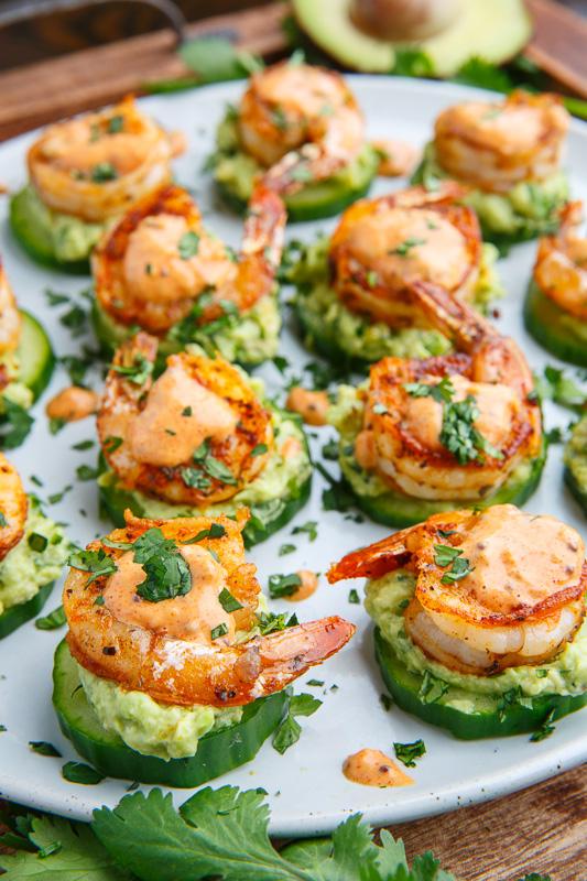 Blackened Shrimp Avocado Cucumber Bites Recipe on Closet