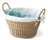 Kulplu hasır büyük çamaşır selesi