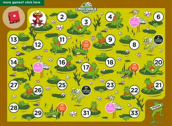 http://www.math4childrenplus.com/free/games/6th-grade/board-games/crocs/croc-exponents.swf