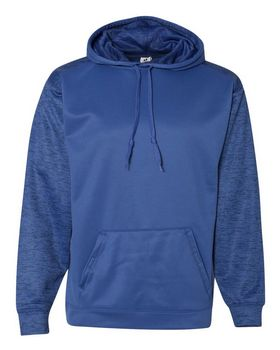Badger 1461 Sport Tonal Blend Fleece Hood - Black/ Black Tonal Blend - XL
