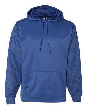 Badger 1461 Sport Tonal Blend Fleece Hood - Black/ Black Tonal Blend - XL