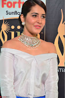Raashi Khanna in Off Shoulder Top and Blue Skirt Cuteness Overloaded at IIFA Utsavam Awards 2017  HD Exclusive Pics 04.JPG