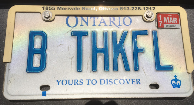 Ontario personalized licence plate B THKFL