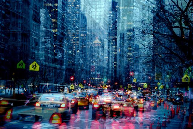 Esposizioni multiple di una strada a New York. Di Alessio Trerotoli