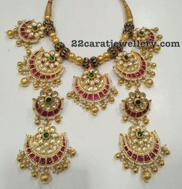 Polki Kundan Choker with Large Earrings
