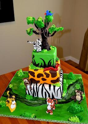 The Shank Family A Safari Theme Birthday Cake
