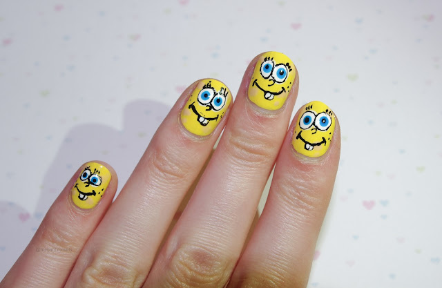spongebob squarepaints nails