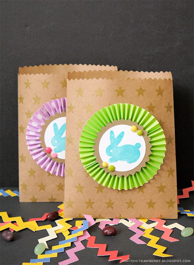 Diy bunny stamped goodie bags for easter minted strawberry i negle Choice Image