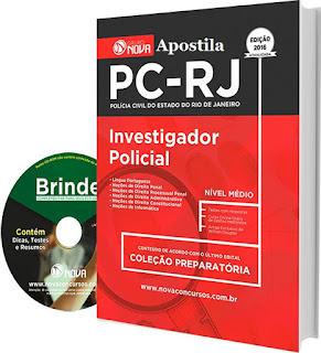 Apostila Polícia Civil-RJ Investigador Policial - PCRJ.