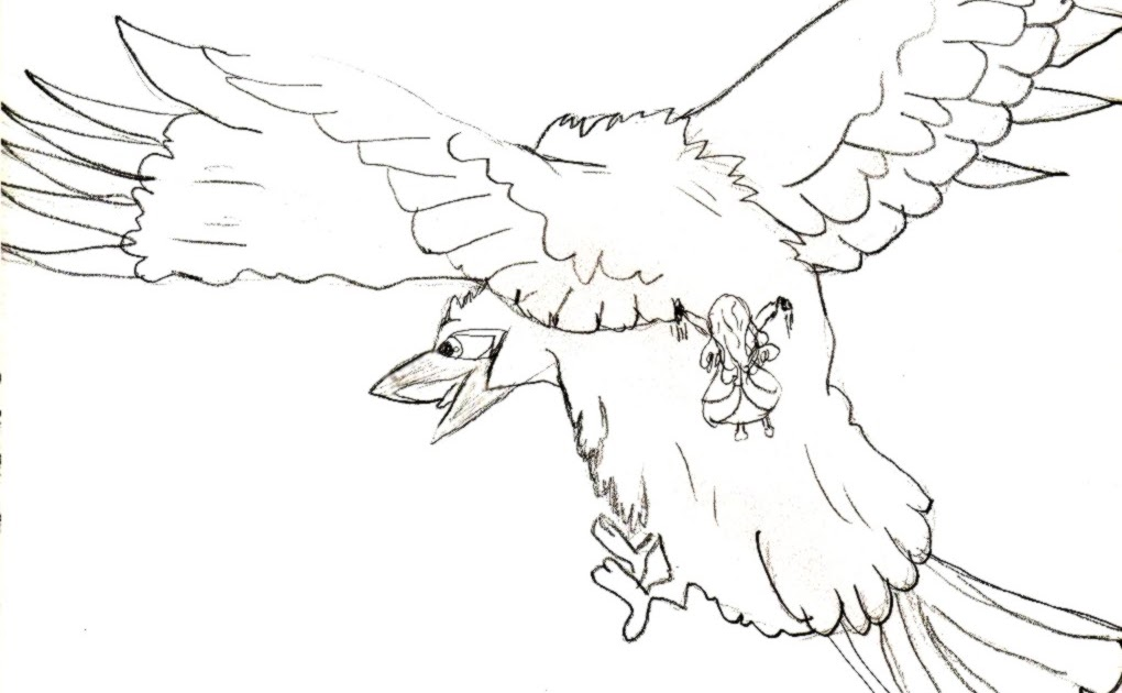 Coloriages Sur Mesure: Dessin à colorier: Le corbeau