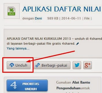 Cara Download File di 4Shared