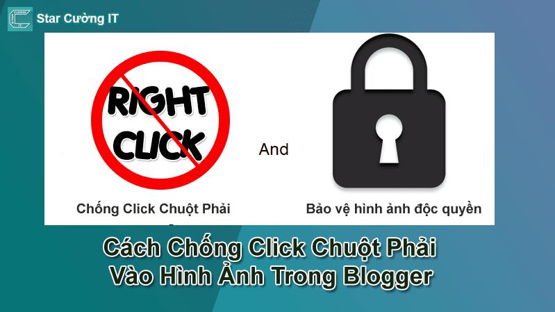 Cách Chống Click Chuột Phải Vào Hình Ảnh Trong Blogspot, Blogger