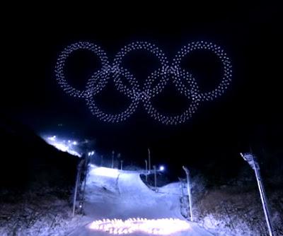 올림픽 오륜기 드론