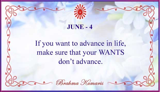 Thought For The Day June 4