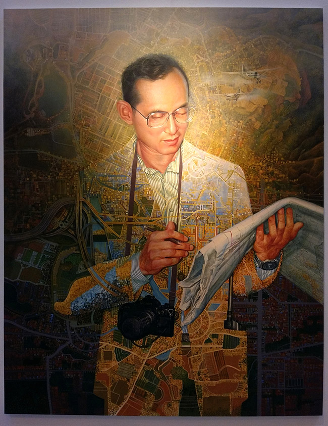 Yospong Yothongyos - Thai King Rama IX Art