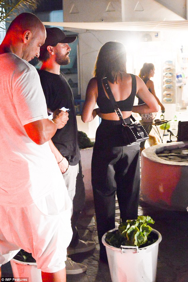 Sofia Richie and Scott Disick pictured out in Mykonos for a romantic dinner date