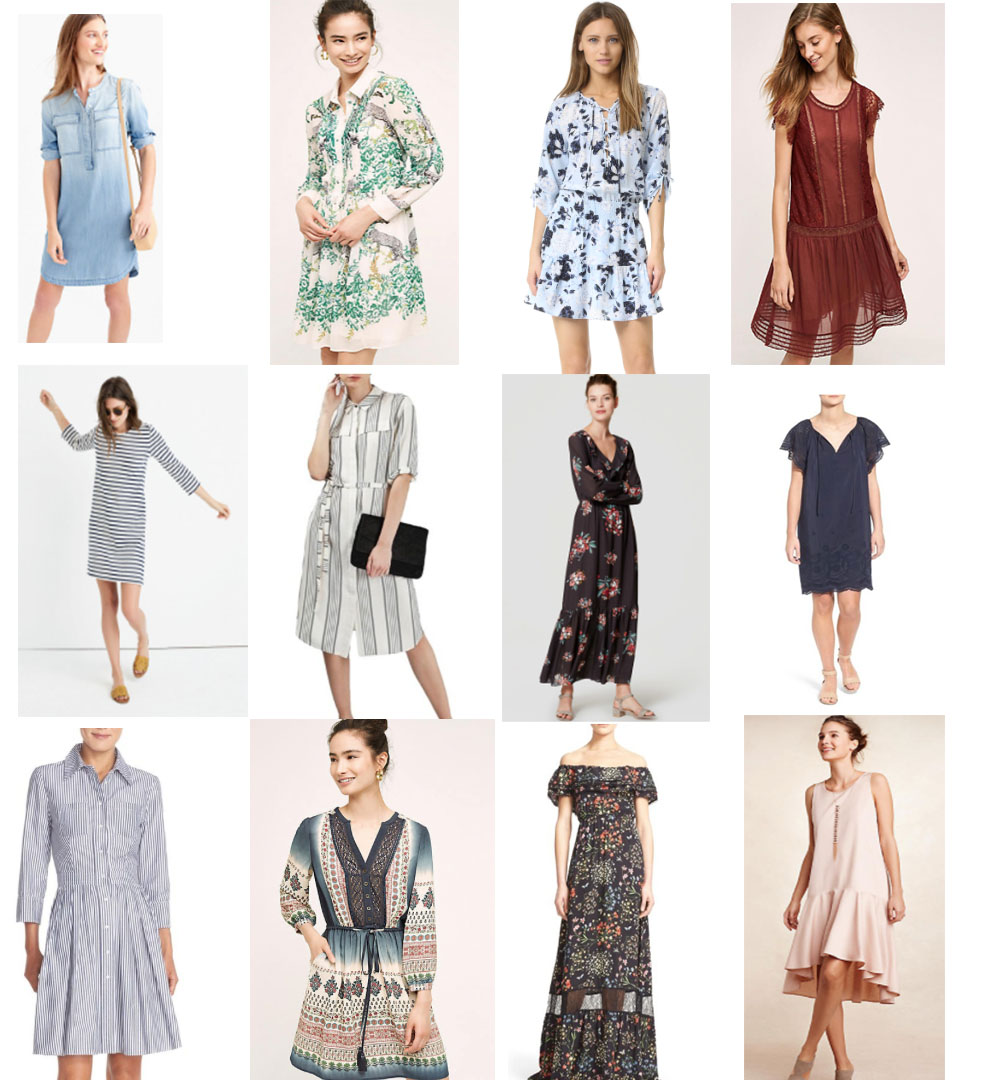 Dresses you can wear in the summer and into the Fall