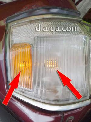lampu sein dan lampu senja berfungsi seperti semula