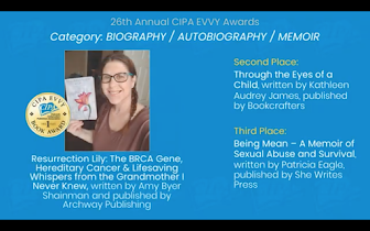1st Place for Resurrection Lily - 2020 CIPA EVVY Book Awards!