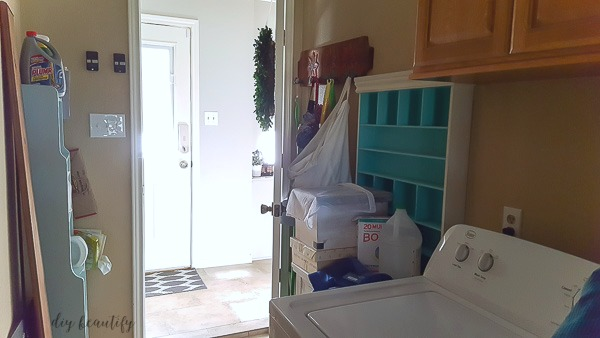 current laundry room and plans to redo it