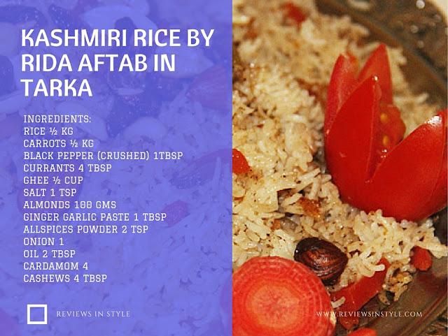 Kashmiri Rice by Rida Aftab in Tarka - Kashmiri Rice
