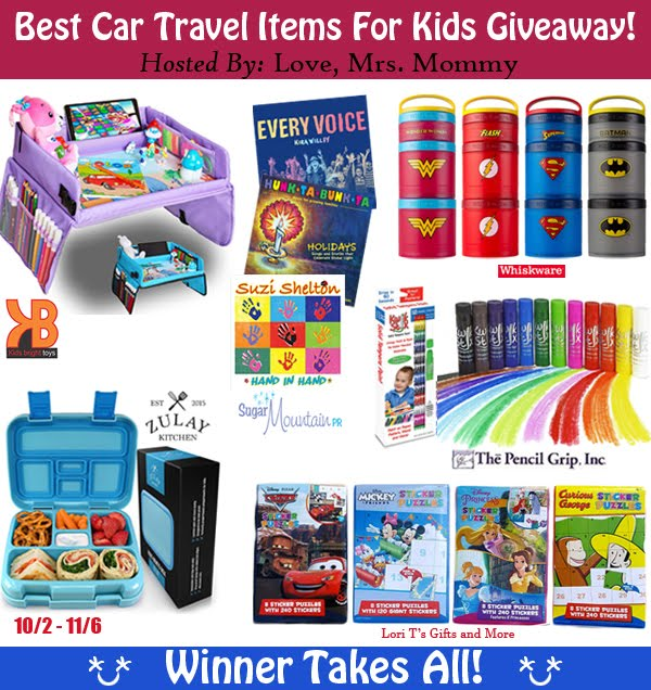 Best Car Travel Items For Kids Giveaway