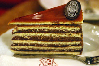 Dobos cake at Gerbeaud Confectionery Budapest