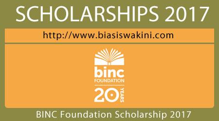 BINC Foundation Scholarship 2017