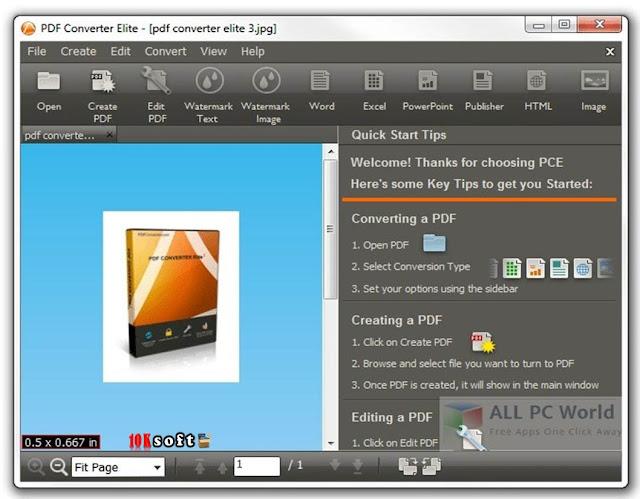 PDF Converter Elite 5 offline setup file Free Download