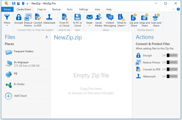 WinZip is missing from my Windows 7 Operating System