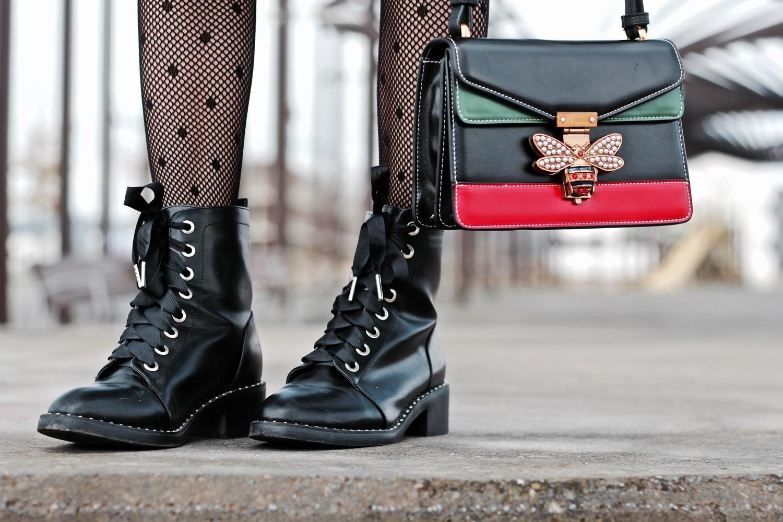 botas estilo militar