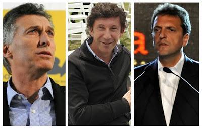 Mauricio Macri, Gustavo Posse, Sergio Massa