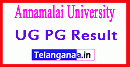 Annamalai University Exam Result