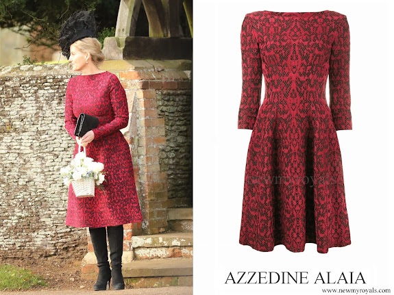 Countess Sophie wore Azzedine Alaïa Wool blend knit dress