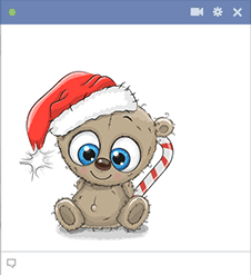 Christmas-Time Teddy Bear Icon