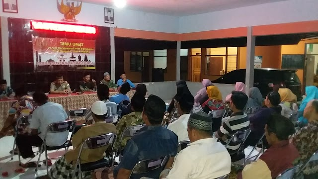 Pererat Silaturahmi, Babinsa Nogosari Dukung Pelaksanaan Temu Kerukunan Umat Beragama