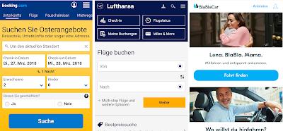 Mobilfreundliche Websites: Bestnoten für booking.com, Lufthansa und BlaBlaCar