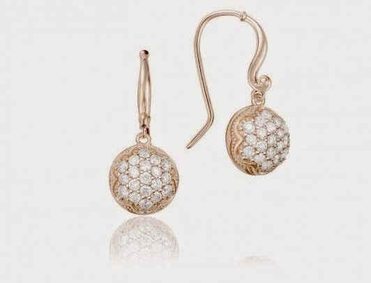 Pink Gold Round French Wire Earrings