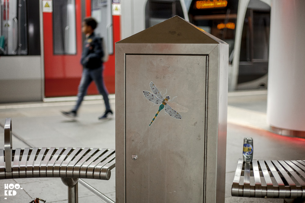 Mini insect on the underground by artist Pol Cosmo in Rotterdam