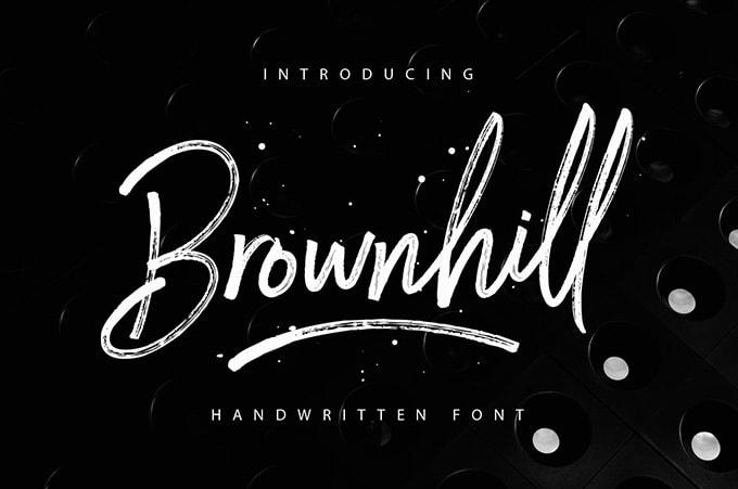 Font Edisi April 2017 - Brownhill Script