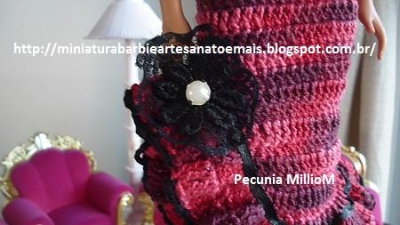 Vestido de Croche e Sapatinhos Com Renda Para Barbie Criados Por Pecunia MillioM 35