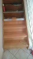 Treppenrenovierung - Stabillisierungsprofil messen und zuschneiden 1
