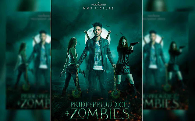 Latest Action Movie Poster Design Zombie Shooter