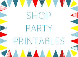 Printable Birthday Invitations and Party Decorations by Love That Party