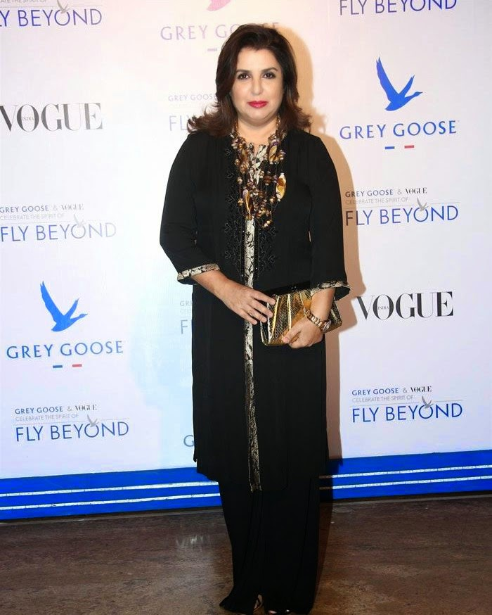 Farah Khan, Pics from Red Carpet of Grey Goose & Vogue's Fly Beyond Awards 2014