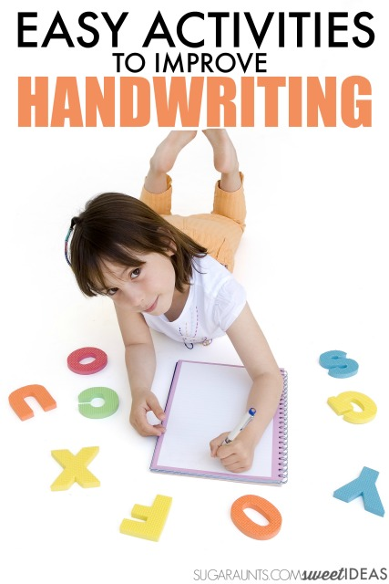 Occupational Therapists, teachers, and parents will love to try these easy handwriting activities with kids who struggle with legible handwriting!