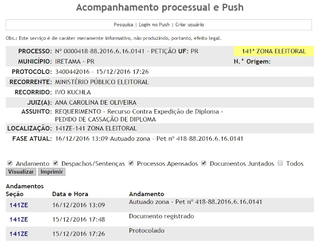 Roncador: MP pede cassação de diploma do vereador Ivo Kuchla