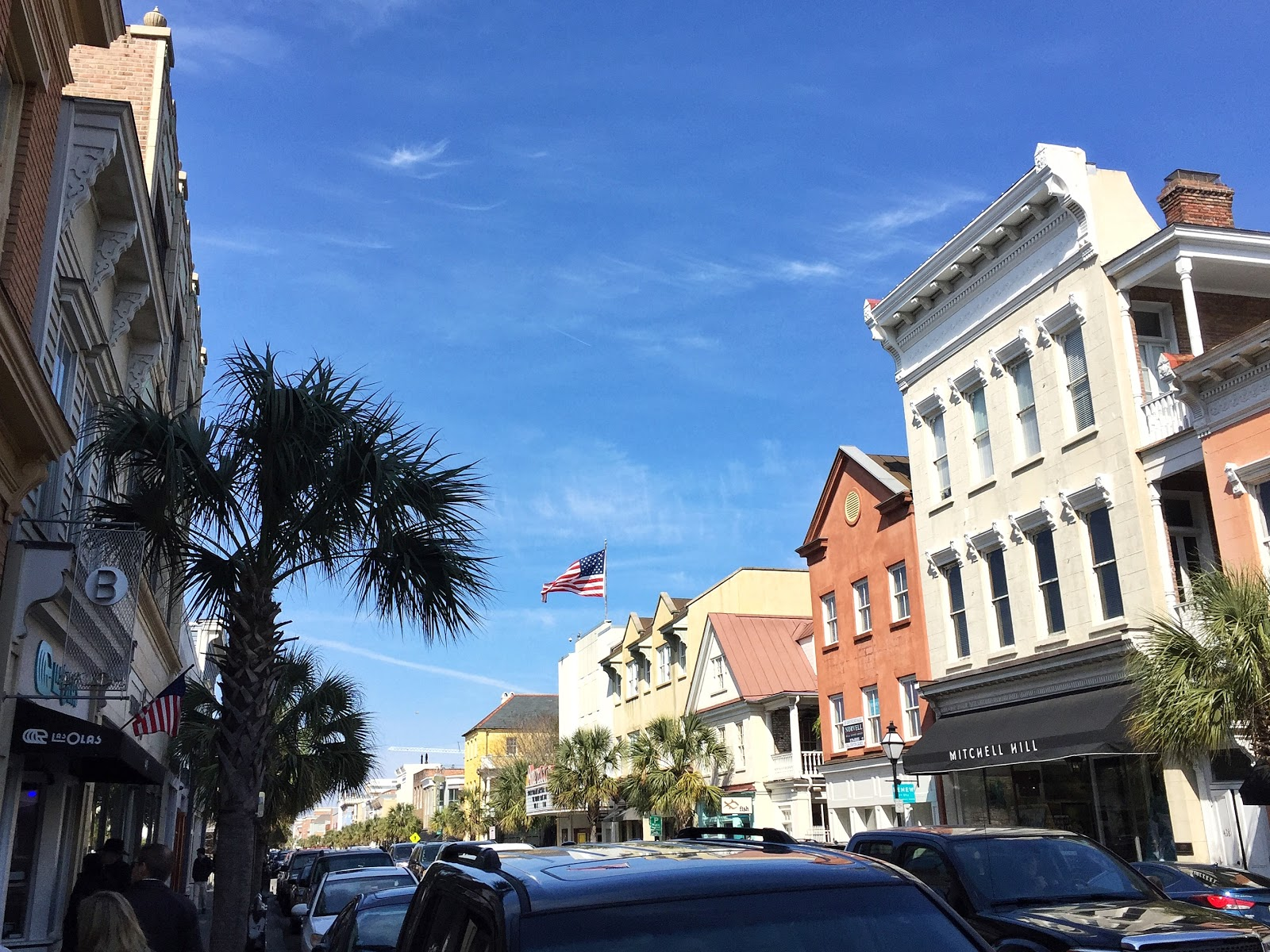 charleston south carolina upper king street downtown charleston sunny beautiful clear sky